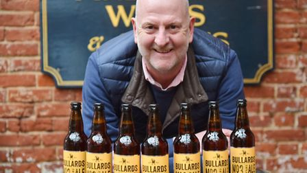Bullards Brewery are returning to Norwich on their 180ty anniversary. Chairman Russell Evans at The