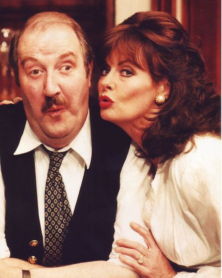 Gorden Kaye and Vicki Michelle at Theatre Royal, Norwich. Picture: Archant Library