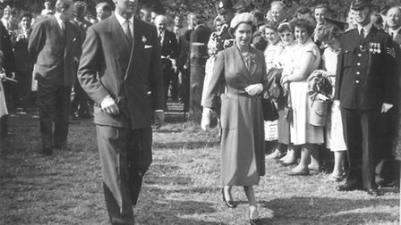 Queen and Duke of Edinburgh visit Royal Show in 1957. Picture Archant Library.
