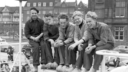 Dutch crew man in Great Yarmouth in 1957. Picture Archant Library.