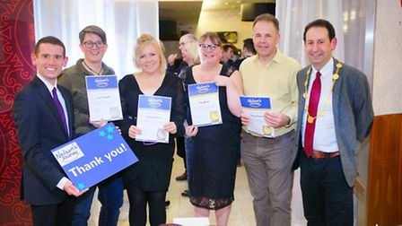 Simon Wright, Nelson's Journey chief executive, volunteer Lou O�Connell, volunteer Donna Milner, vol