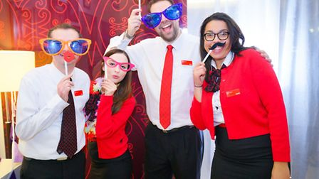 Staff from the Virgin Money Lounge pictured at the Nelson's Journey awards. Picture: Richard Jarmy