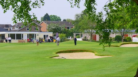 Improved holes at Eaton Golf Club. The 18th. PHOTO BY SIMON FINLAY
