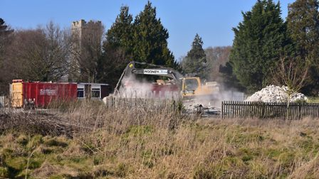 Demolition work starting at the former Worlingham Primary School site. Picture: Nick Butcher