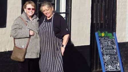 Diane Simpson, left, and Aideen Summers, the owner and chef of the Lemon Tree. Picture: DAVID SIMPSO