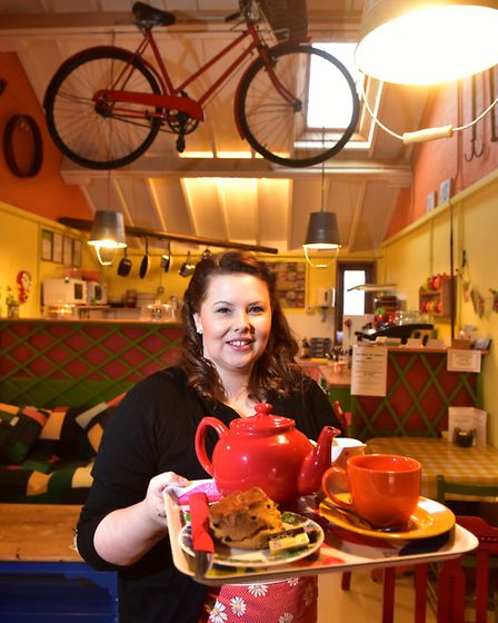 Ellen Pennington celebrates her 3rd anniversay of running the Shed Cafe at Henstead Arts and Crafts