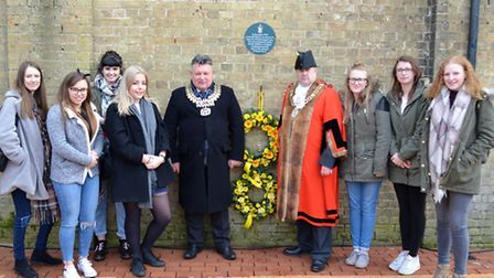 Lowestoft Holocaust Memorial Day. Photo: Mick Howes