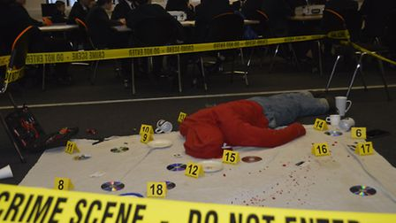 Students in Wymondham enjoying a day of forensics as part of the Let Students Shine initiative. Pict