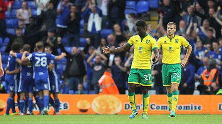 Norwich City suffered a 3-0 defeat at Birmingham City earlier in the season. Picture: Paul Chesterto