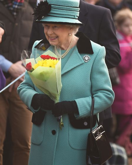 The Queen was greeted by well wishers after morning service at West Newton Church. Picture: Ian Burt