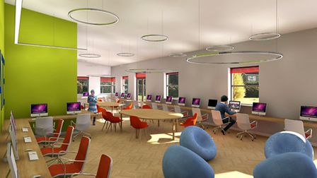 How the new library resource centre for Fakenham Sixth Form students may look. Picture: TEN Group