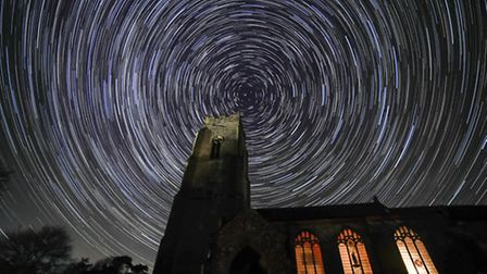 Photo previously submitted to iwitness24 of star trails taken at St Marys at Erpingham. Photo by Roy