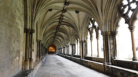 Photo previously uploaded to iwitness24 of Cathedral Cloisters in Norwich. Photo by Martin Seuneke.