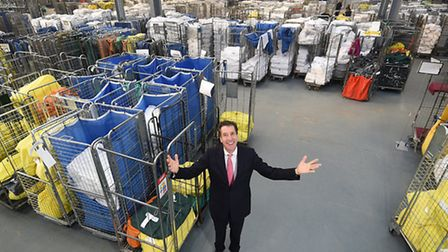 Camplings new commercial laundry at Great Yarmouth. MD Richard Turvill.Picture: ANTONY KELLY
