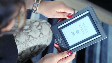 A person reading kindle. Photo: Sandy Young/PA Wire