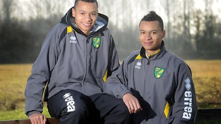 Jacob (right) and Josh Murphy, pictured in February 2013 when they were still academy players. Pictu
