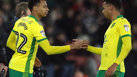 Josh Murphy is replaced by Jacob Murphy during Norwich City's recent FA Cup replay against Southampt