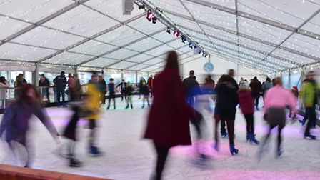 A synthetic ice rink is being built in Cromer. Picture: Nick Butcher