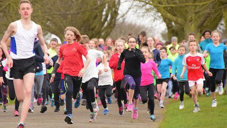 Scenes from the first anniversary of Norwich Junior Parkrun at Eaton Park. Picture: SIMON FINLAY