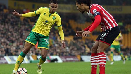 Josh Murphy has extended his contract with Norwich City until the summer of 2021. Picture by Paul C