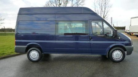 The van which broke down on the way to Romania