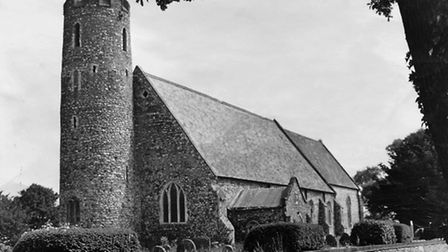 Blundeston church which is mentioned in David Copperfield., photographed here in 1970 ( Lovett)