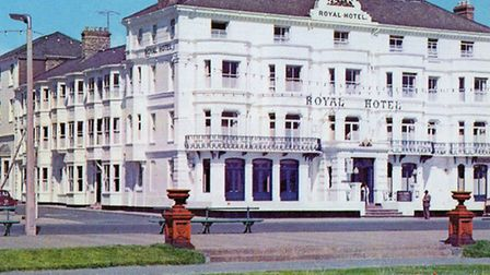 Charles Dickens stayed at the Royal Hotel on Marine Parade, pictured here in the 1970s, while resear