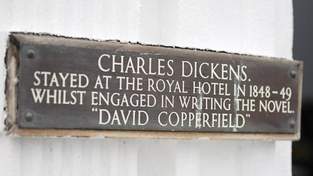 Small plaque on the front of the Royal Hotel on Marine Parade, Great Yarmouth ( Picture: James Bass