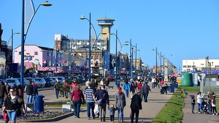 A busy Yarmouth seafront on Good Friday. PHOTO: Nick Butcher