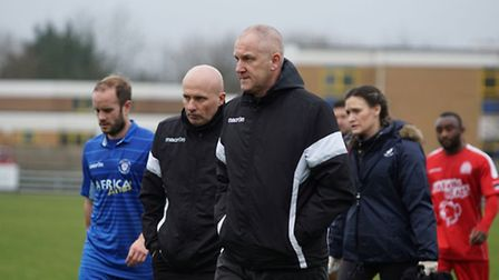 Lowestoft Town FC assistant manager Dale Brooks, with manager Ady Gallagher. Picture: SHIRLEY D WHIT