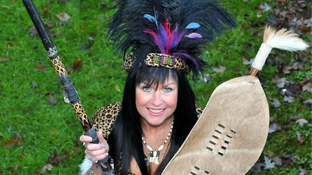 Donna Africa, dressed as a Zulu warrior, has auditioned for Britain's Got Talent in the past. Pictu