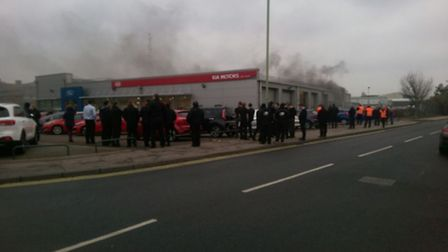 The scene of the blaze in Lowestoft. Picture: ANDY SMITH