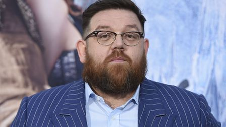 """Nick Frost arrives at the LA Premiere of """"The Huntsman: Winter's War"""" (Photo by Jordan Strauss/Invis"""