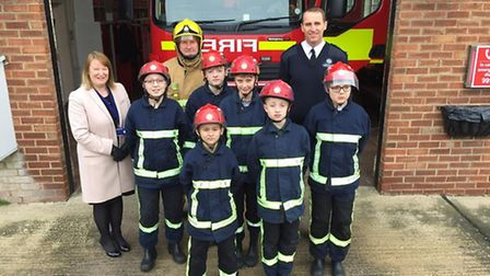 Students from Mildenhall College Academy take part in the Firebreak course. They are pictured with