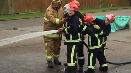 Students from Mildenhall College Academy take part in the Firebreak course. Pictured are some of the