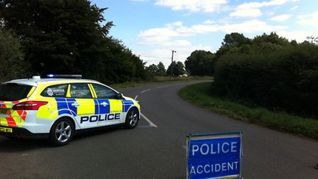 Police attended the scene of a fatal crash in Severalls Road, Methwold Hythe, in which two people di