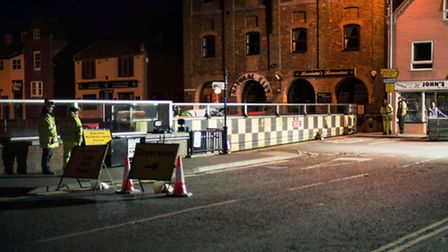 There will be road closures in Wells-next-the-Sea this morning.