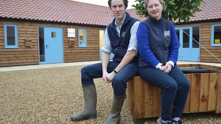 Oliver and Charlotte Gurney have invested in six new commercial units at White House Farm in Sprowst