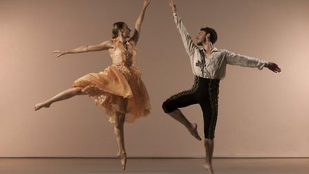 Dancers Elly Braund and Nicholas Bodych in RIchard Alston's An Italian in Madrid. Picture: Chris Nas