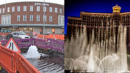 Golden Ball Street, Nowich and Bellagio, Las Vegas - can you spot the difference? Picture: Mustard T