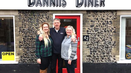 Sam, Carl and Ann Foster are set for the grand opening of Dannii's Diner in Brandon. It is a tribute