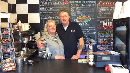 Ann and Carl Foster inside Dannii's Diner which will have its grand opening on Saturday. Picture: Re