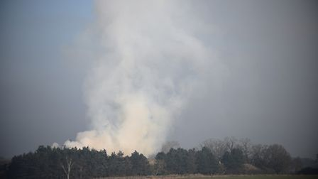 The fire at North Runcton can be seen from miles away. Picture: Ian Burt