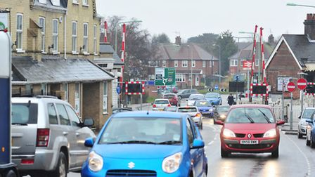Traffic going through Bridge Road in Oulton Broad, pictured before work started. Picture: Nick Butch