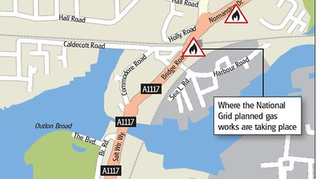 The planned Oulton Broad gas works. Picture: Archant