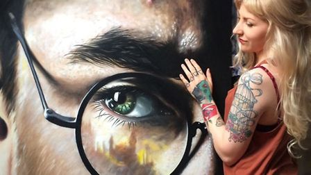 What the missing Harry Potter painting looks like. Picture Hannah Weston