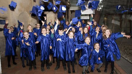 Children from across schools in Norfolk celebrated their special graduation at Dragon Hall. Picture: