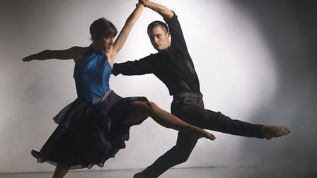 Liam Riddick and Oihana Vesga Bujan in Martin Lawrance's Tangent, part of the Norwich programme. Pic