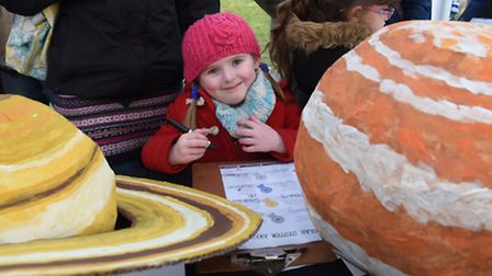 Children enjoying the activities at the Seething Observatory. Rose Dunstan, four, from Dereham, at w
