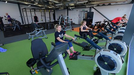 The upper floor gym at Wymondham Leisure Centre was forced to close after weekend snow. PHOTO BY SI